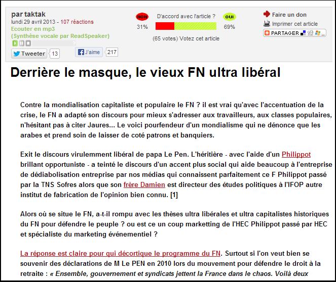 Vieux FN ultra-libéral